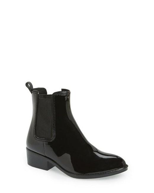 Jeffrey Campbell | Black 'stormy' Rain Boot | Lyst