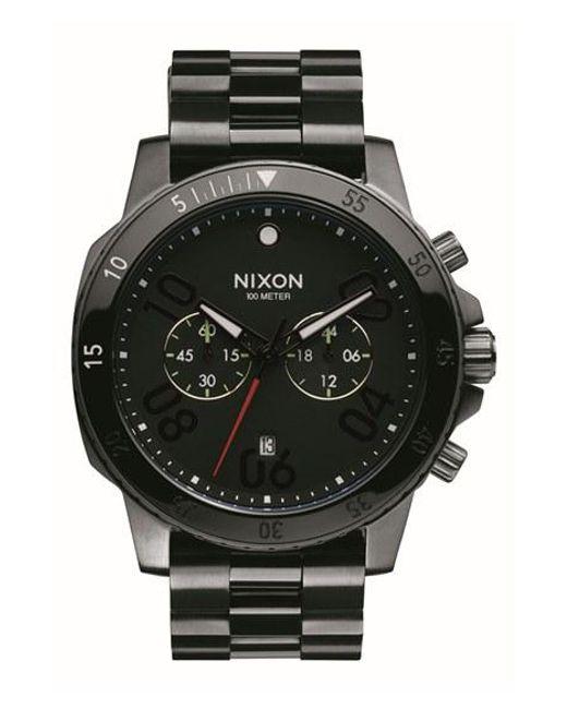 Nixon   Black 'ranger' Chronograph Bracelet Watch for Men   Lyst