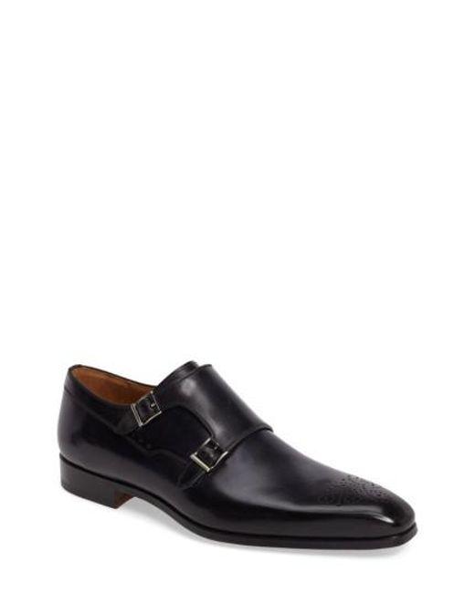 Magnanni Shoes   Blue Donaldo Double Buckle Monk Shoe for Men   Lyst