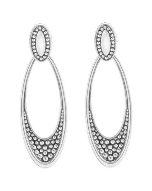 Lagos - Metallic 'signature Caviar' Omega Drop Earrings - Lyst