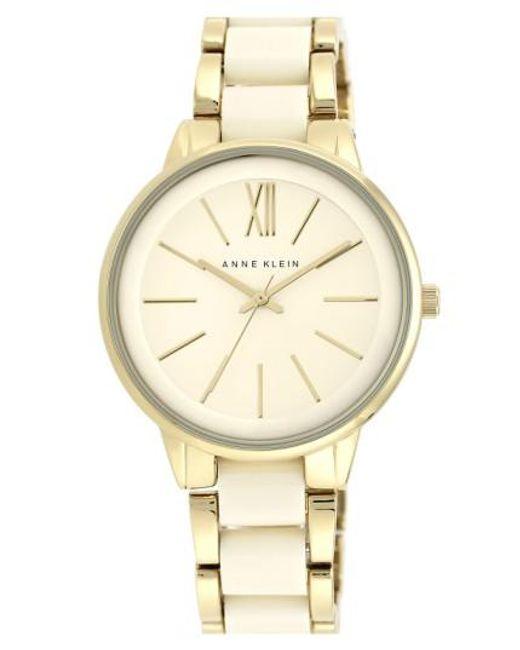 Anne Klein   Metallic Round Bracelet Watch   Lyst