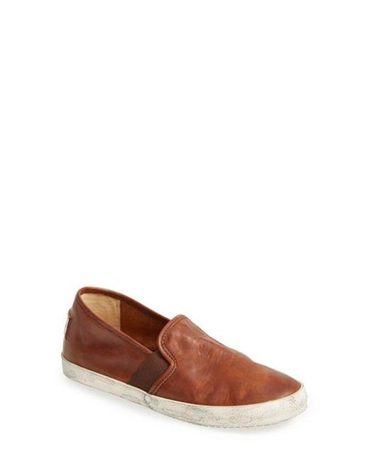 Frye | Brown 'Dylan' Leather Slip-On Sneaker (Women) | Lyst