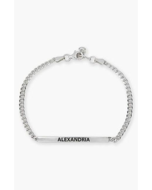 Argento Vivo | Metallic Small Personalized Bar Bracelet | Lyst