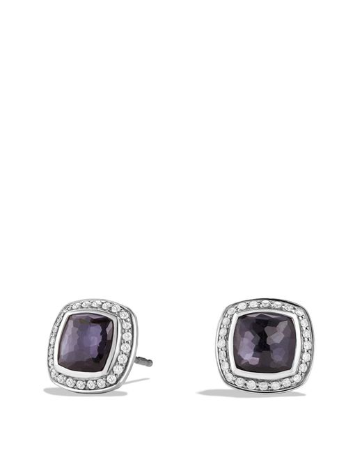 David Yurman - Black Albion Earrings With Lavender Amethyst And Diamonds - Lyst