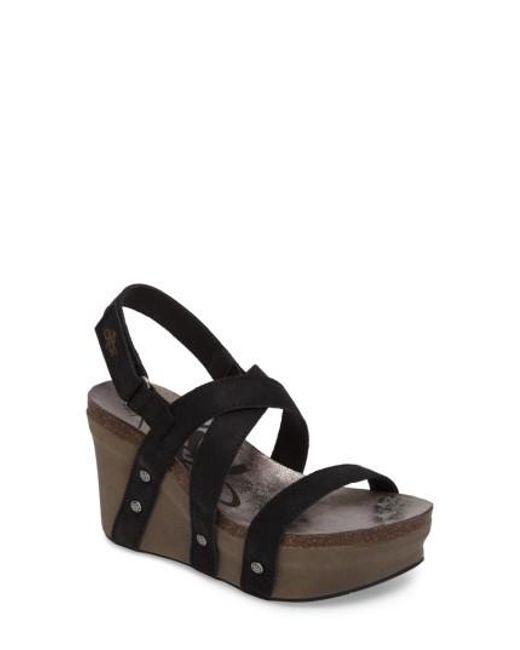 Otbt | Black Sail Wedge Sandal | Lyst