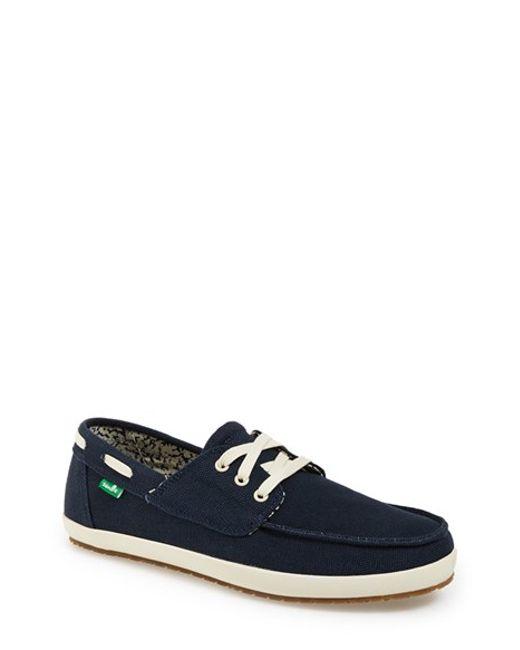 Sanuk | Blue 'casa Barco' Boat Shoe for Men | Lyst