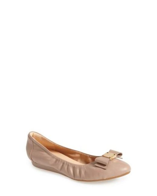 Cole Haan | Natural 'tali' Bow Ballet Flat | Lyst