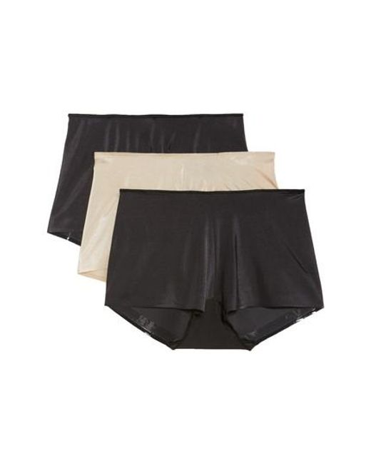 Tc Fine Intimates - 3-pack High Waist Boyshorts, Black - Lyst