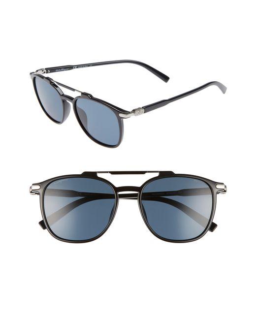 Ferragamo - Blue Double Gancio 54mm Polarized Sunglasses - for Men - Lyst