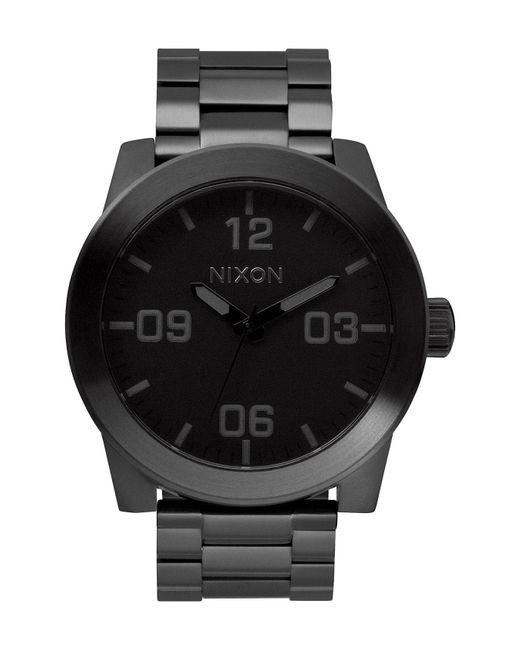 Nixon - Black 'the Corporal' Bracelet Watch for Men - Lyst