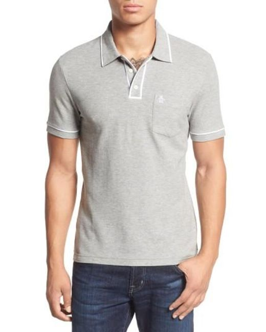 Original Penguin | Gray 'earl' Pique Polo for Men | Lyst