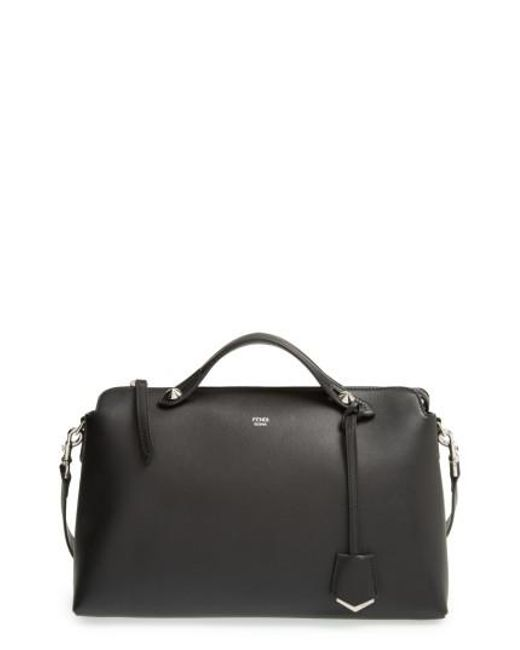 Fendi | Black Large By The Way Leather Shoulder Bag | Lyst