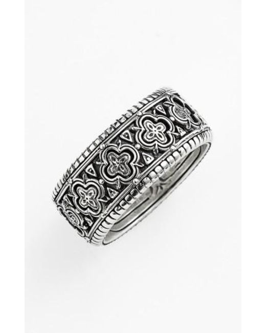 Konstantino   Metallic 'classics' Clover Etched Ring for Men   Lyst