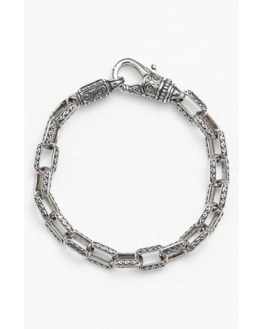 Konstantino | Metallic 'classics' Etched Link Bracelet for Men | Lyst