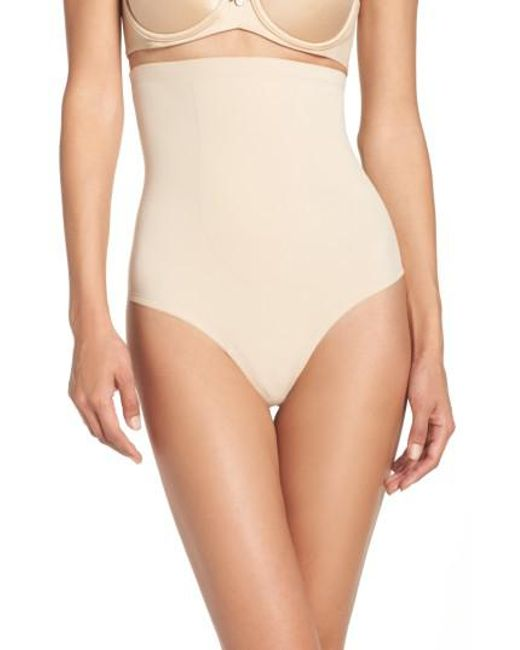 Tc Fine Intimates - Natural High Waist Shaping Thong - Lyst