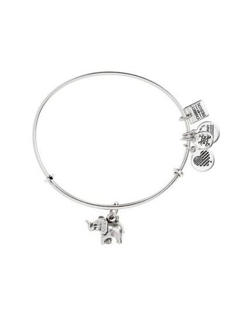 ALEX AND ANI   Metallic Charity By Design Elephant Ii Adjustable Bangle   Lyst