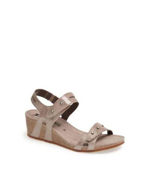 Mephisto - Natural 'minoa' Wedge Sandal - Lyst