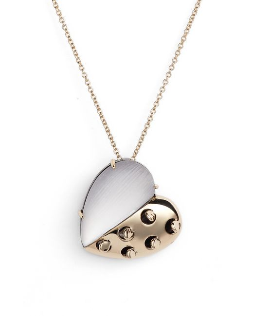 Alexis Bittar - Gray Small Lucite Grater Heart Pendant Necklace - Lyst