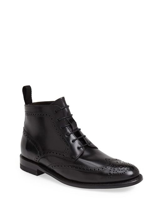 Sendra | Black 'newport' Wingtip Boot for Men | Lyst