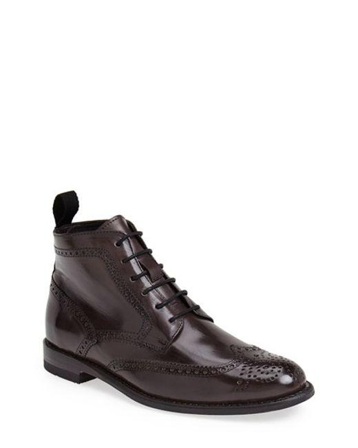 Sendra | Gray 'newport' Wingtip Boot for Men | Lyst