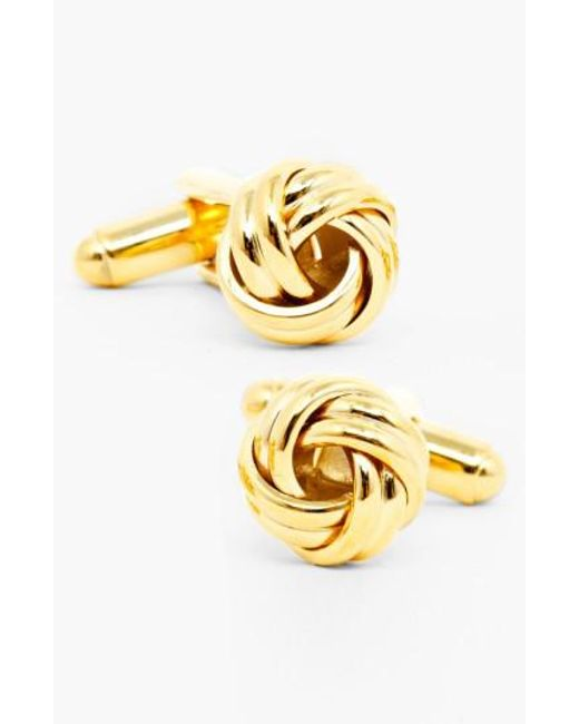 Ox and Bull Trading Co.   Metallic Knot Cuff Links for Men   Lyst