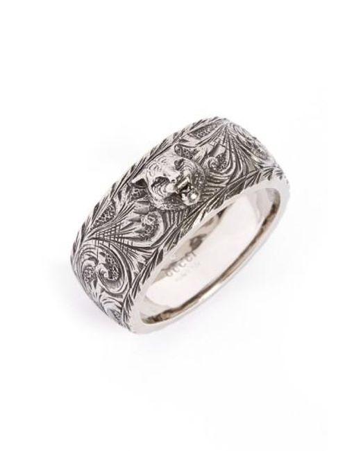 Gucci | Metallic Feline Head Ring | Lyst