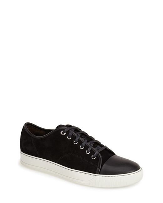 Lanvin | Black Velvet Trainers for Men | Lyst