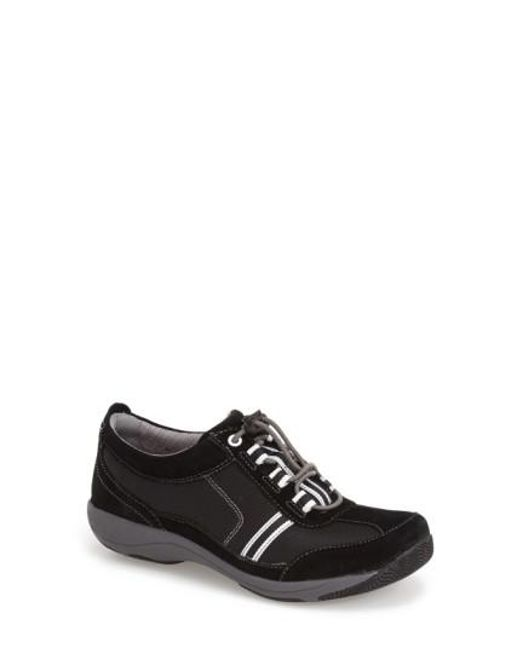 Dansko | Black 'helen' Suede & Mesh Sneaker | Lyst