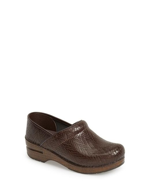 Dansko | Brown 'professional' Woven Leather Clog | Lyst