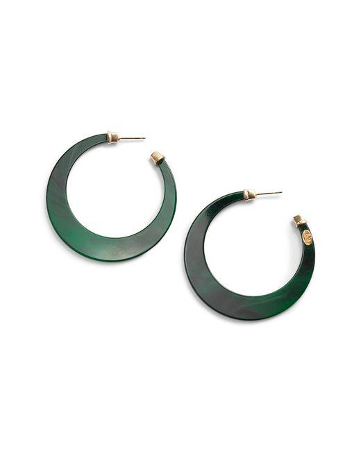 Gas Bijoux - Green Nu Hoop Earrings - Lyst