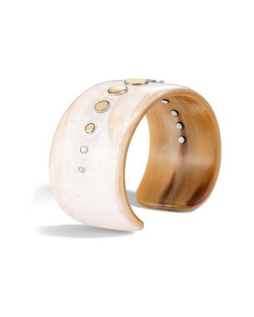 John Hardy - Metallic Dot Horn Cuff Bracelet - Lyst