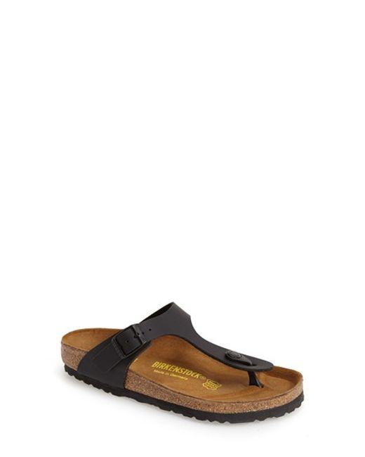 Birkenstock | Black 'gizeh' Birko-flor Thong Sandal | Lyst