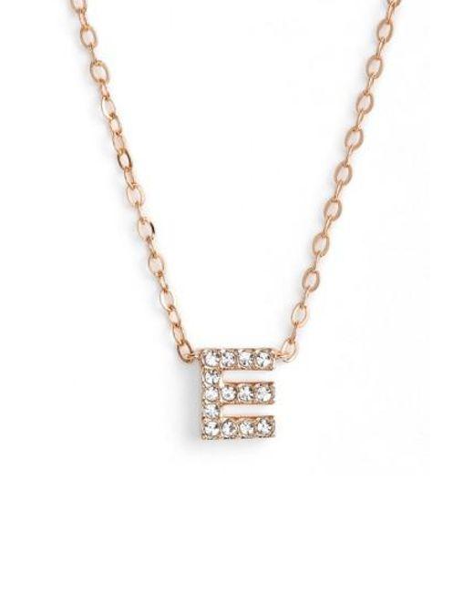 Nadri - Metallic Initial Pendant Necklace - Lyst