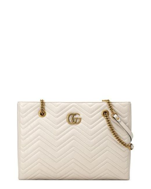 9978b44cb Gucci - Multicolor Gg Marmont 2.0 Matelasse Medium Leather East/west Tote  Bag - Lyst