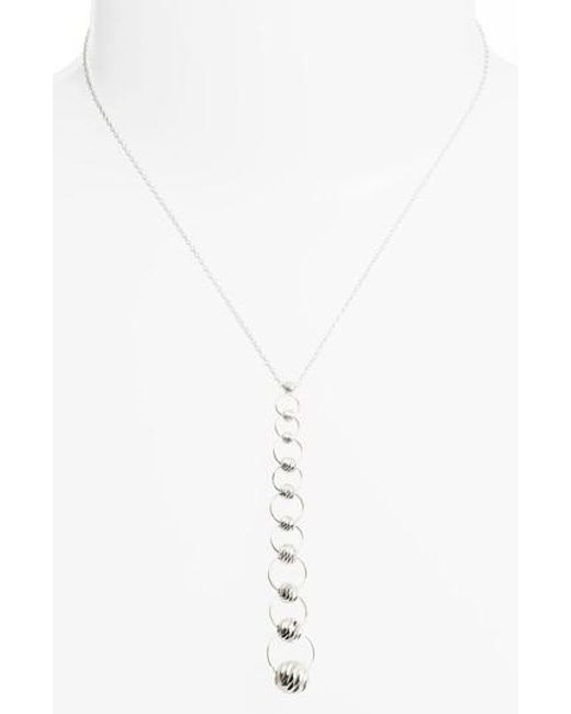 Argento Vivo | Metallic Y-necklace | Lyst
