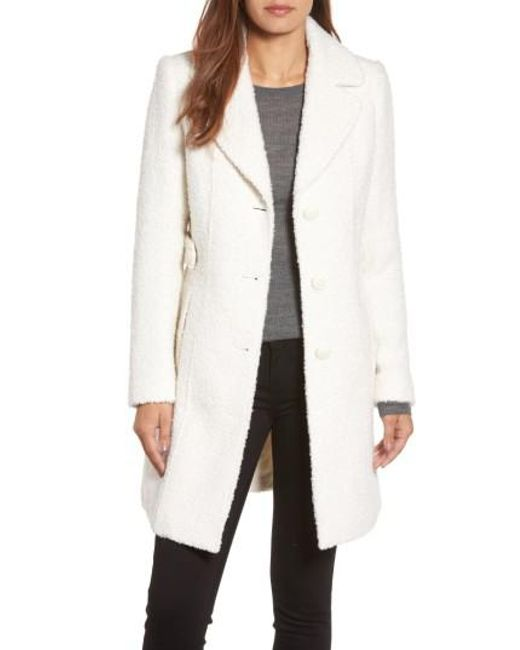 Gallery | White Boucle Coat | Lyst