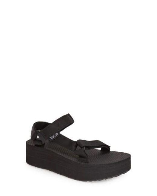 Teva | Black 'universal' Flatform Sandal | Lyst