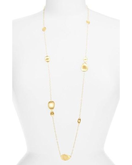 Marco Bicego | Yellow 'lunaria' Long Station Necklace | Lyst