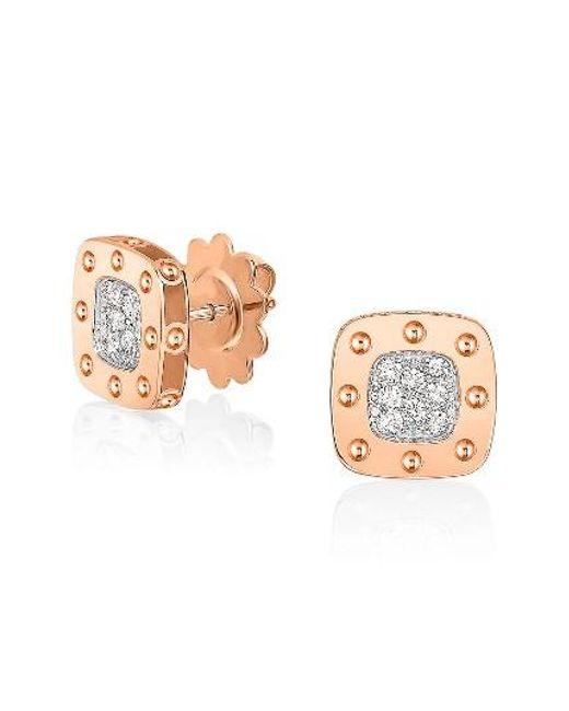 Roberto Coin   Yellow 'pois Moi' Diamond Stud Earrings   Lyst