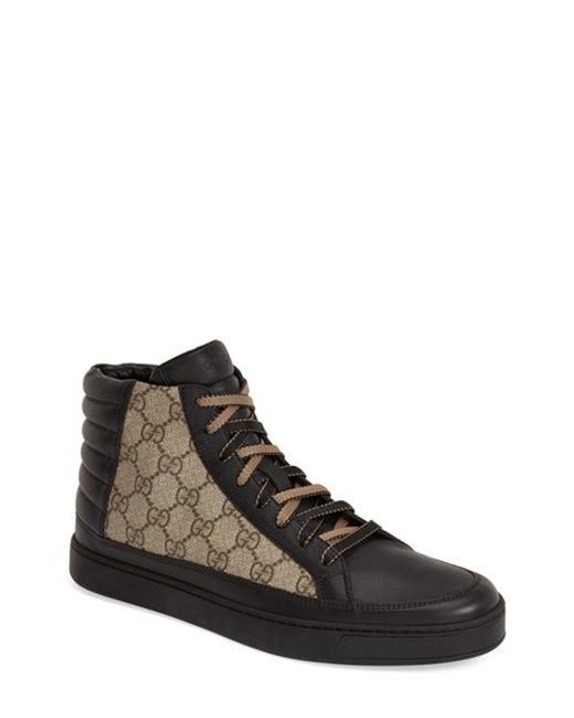 Gucci | Black 'common' High Top Sneaker for Men | Lyst