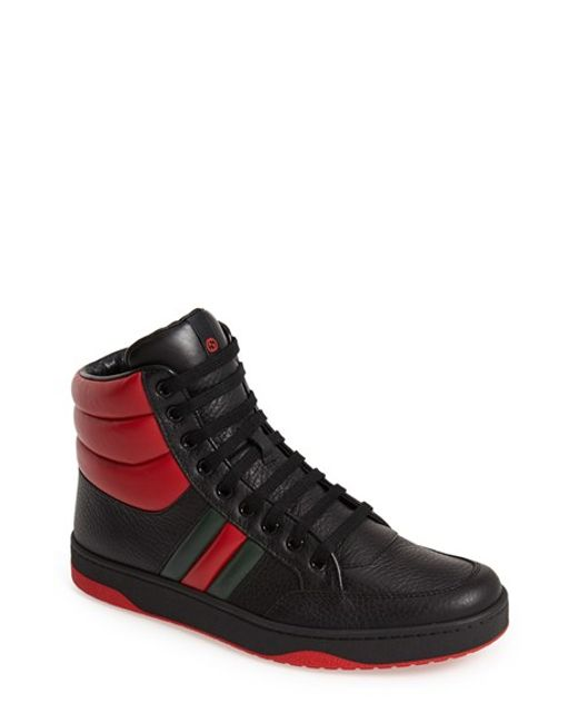 Gucci | Black 'ronnie' High-top Sneaker for Men | Lyst