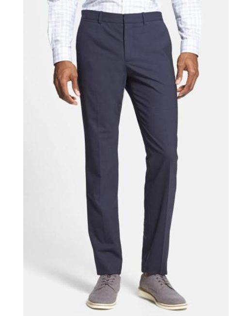 Theory | Blue 'marlo New Tailor' Slim Fit Pants for Men | Lyst