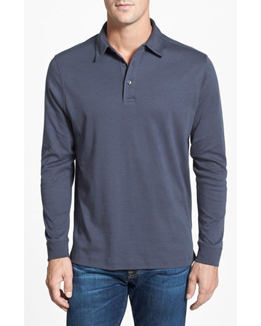 Cutter & Buck | Black 'belfair' Pima Cotton Polo for Men | Lyst