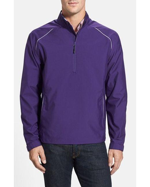 Cutter & Buck | Purple 'beacon' Weathertec Wind & Water Resistant Jacket for Men | Lyst