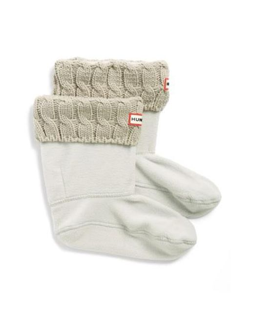 Hunter | Natural Original Short Cable Knit Cuff Welly Boot Socks | Lyst