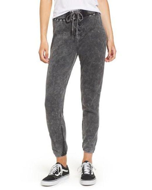 Splendid | Gray Jogger Pants | Lyst