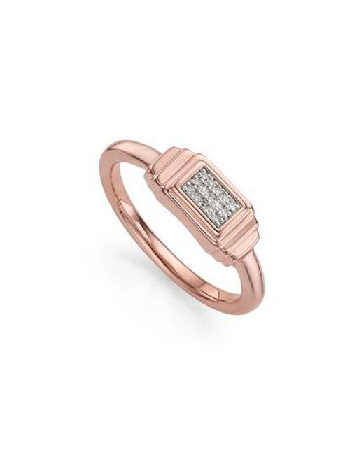 Monica Vinader   Metallic Baja Deco Diamond Ring   Lyst