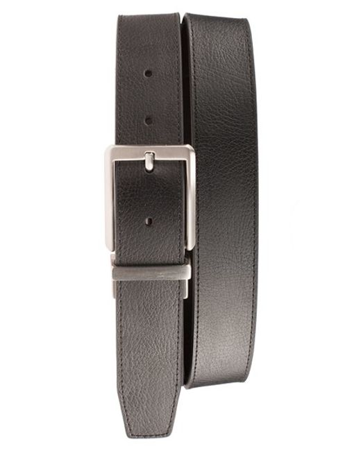 Nike | Black 'core' Reversible Leather Belt for Men | Lyst