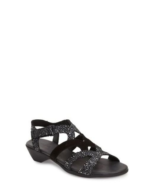 Arche | Gray 'obela' Water Resistant Leather Sandal | Lyst