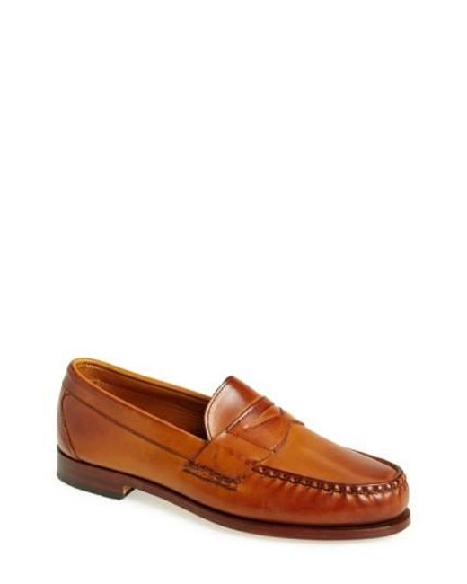 Allen Edmonds | Brown 'cavanaugh' Penny Loafer for Men | Lyst